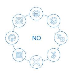 8 no icons vector