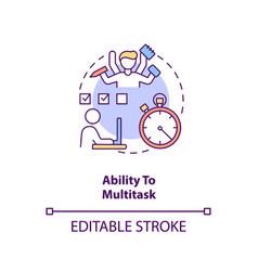 Ability to multitask concept icon vector
