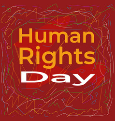 Abstract human rights day poster campaign vector