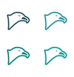 Assembly sticker eagle head vector