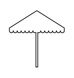 Beach umbrella isolated icon vector