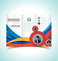 brochure design template4 vector image