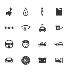 Car service icon set vector image vector image