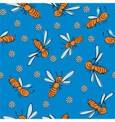 Cartoon bees background vector