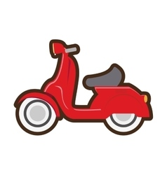 cartoon motorcycle speed delivery vector image