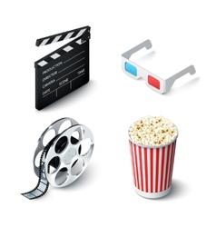 Cinema Realistic Set vector image vector image