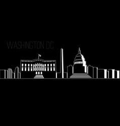 Cityscape of washington dc vector