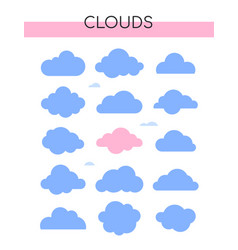 clouds collection - set colorful vector image
