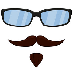 colorful cartoon man hipster avatar set vector image