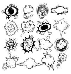Comic Monochrome Speech Bubbles Collection vector image