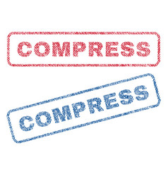 Compress textile stamps vector