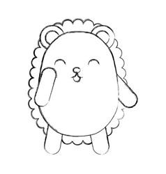 cute sketch draw armadillo cartoon vector image