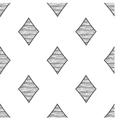 diamonds seamless pattern sketch vector image