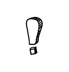 Doodle exclamation mark vector