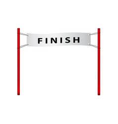 finish flag in retro design vector image