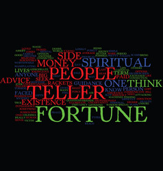 Fortune teller text background word cloud concept vector