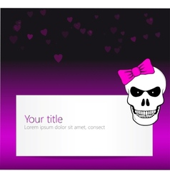 Funny background with angry skull vector