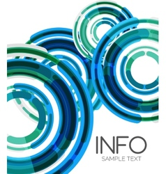 Futuristic design elements hi-tech layout vector
