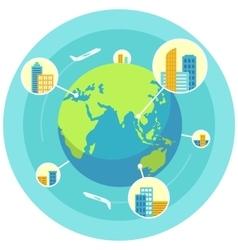 Global business design concept vector