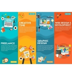 Graphic Design Webdesign Development Freeance vector