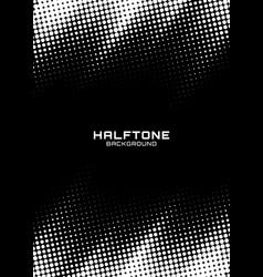 halftone dots pattern frame vertical background vector image