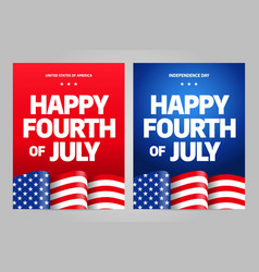 happy independence day 4 th july usa vector image