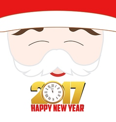 Happy new year 2017 santa claus background vector