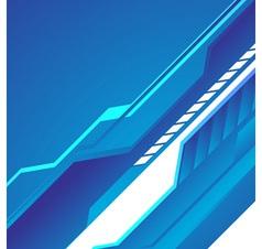 Hi tech blue background vector image