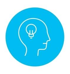 Human head with idea line icon vector image