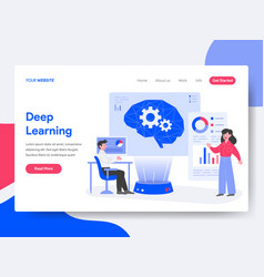 landing page template deep learning concept vector image