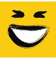 Laughing emoticon painted vector