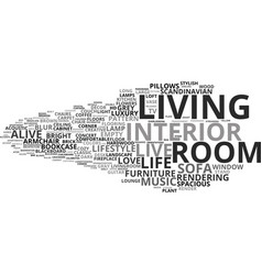 Living word cloud concept vector