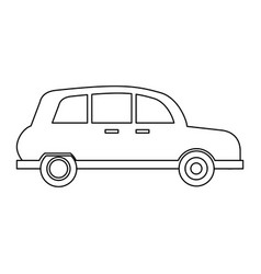 london taxi cab in black and white vector image