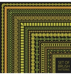 Luxury Pattern Brushes Set vector image