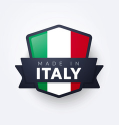 made in italy label vector image