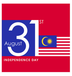 malaysia independence day card design vector image