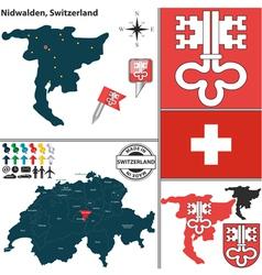 Map of Nidwalden vector