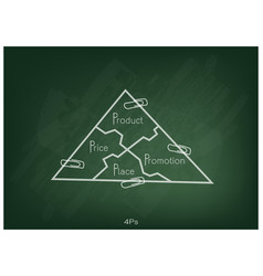 Marketing mix strategy or 4ps model on triangle ch vector