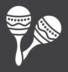 mexican maracas glyph icon music and instrument vector image