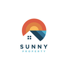 modern colorful house property estate logo icon vector image