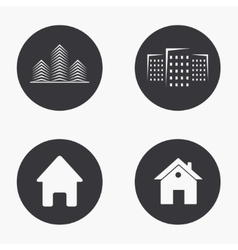 modern real estate icons set vector image