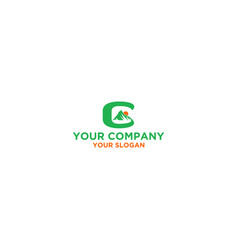 mountain g logo design vector image