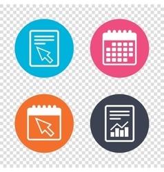 Mouse cursor sign icon Pointer symbol vector image vector image