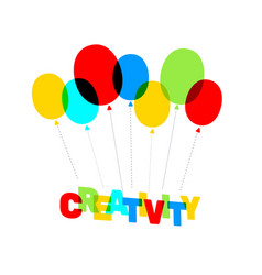 multicolor creativity business word lettering vector image