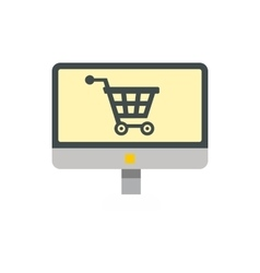 Online shopping icon flat style vector image