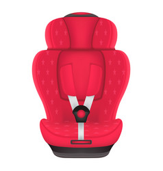 red child car seat with stars isolated on a white vector image