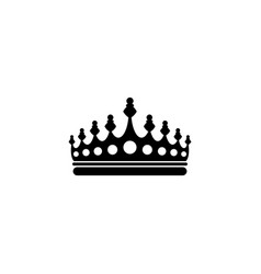 royal crown flat icon vector image