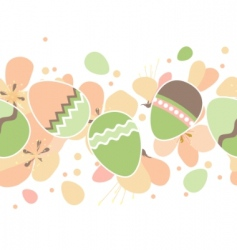 seamless horizontal Easter pattern vector image