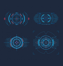 set of isolated optical sights for weapons vector image