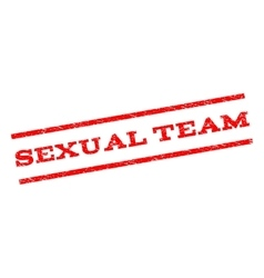 Sexual Team Watermark Stamp vector